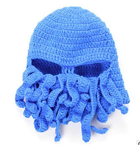 Kostüm Cool Caveman - Neuheit Cool Handmade Strickwolle Lustige Tier Cthulu Bart Octopus Hüte Caps Häkeln Tentakel Mützen Männer Frauen Unisex Geschenke 3