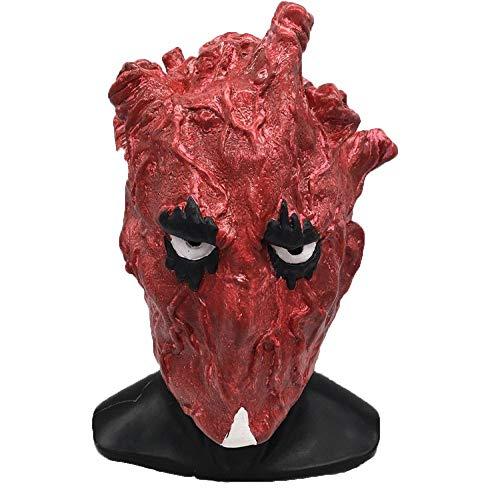 Kostüm Redhead - JUFENG Latexmaskenfestival-Party Die Mit Hut Für Maskerade-Halloween-Kostüm Entsetzt,Redhead-OneSize