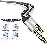 Cavo Audio Stereo Jack AUX 3,5mm a 6,35mm TRS, per Collegare Smartphone, Tablet, PC con Altoparlante, Amplificatore, Mixer Audio, Chitarra, 2M Nylon