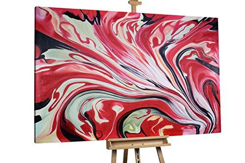 'Liebeslilie' 180x120cm | Blume Rot Liebe XXL | Modernes Kunst Ölbild