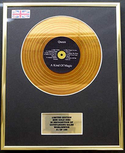 Limited Edition Cd Display Queen/Mini Metal Gold Disc/EDICIÓN