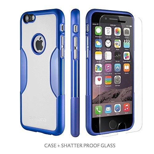 Sahara Case Schutzhülle für iPhone 6mit gehärtetem Glas-Bildschirmschutz, hervorragender LCD-Schutz [patentierte Gegenlichtblende = bessere Bilder]-Schlanke Schutzhülle für iPhone 6