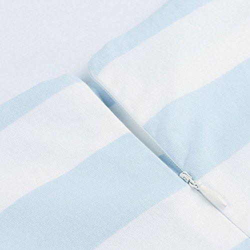 ZAFUL Damen Retro Elegante Cocktailkleider 50er Jahre Hepburn Ärmellos Abendkleid Swing Kleider-Blau Flamingo-XXL - 6
