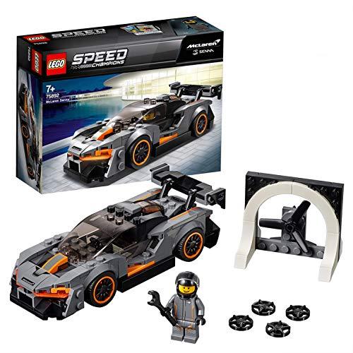 Lego Speed Champions- McLaren Senna Speed Champions Juguete de Construcción, Coche de Carreras Deportivo, Multicolor (75892)