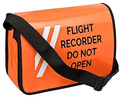 Umhängetasche FLIGHT RECORDER DO NOT OPEN -
