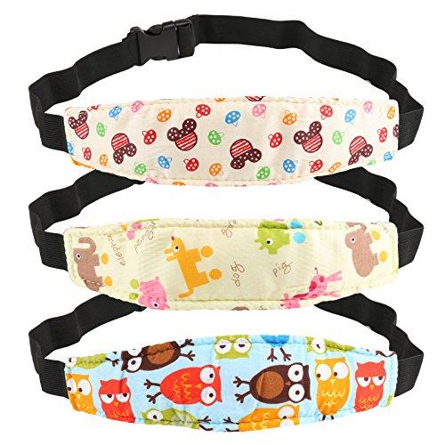 Kesoto 3 Soporte Seguridad para Cabeza de Niños Cinturón Ajustable para Silla de Coche Correa de Seguridad para el Asiento del Coche