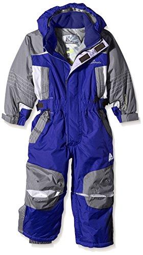 Peak Mountain Eplanx - Traje de esquí para niño, traje, color azul, tamaño 3 años