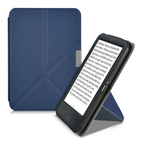 kwmobile Smart Cover Case für > Tolino Shine 2 HD < mit Ständer - Schmale Schutzhülle Slim Hülle aus Kunstleder in Dunkelblau