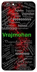 Vrajmohan (Lord Krishna) Name & Sign Printed All over customize & Personalized!! Protective back cover for your Smart Phone : Moto X-STYLE