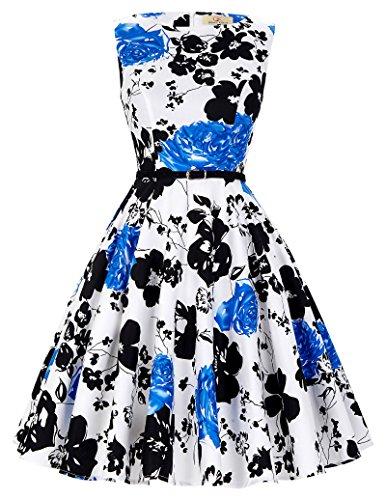 40s 50s 60s retro vintage kleid festliches kleid rundhals rockabilly kleid petticoat kleid Größe 2XL CL6086-47