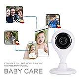 Cewaal (EU Plug) Système de caméra de sécurité à domicile, HD 1080p Caméra IP sans fil Surveillance bébé Machine à carte P2P, Vision jour / nuit, Caméra intérieure / extérieure pour la maison, Bébé, S