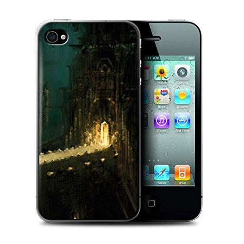 Offiziell Chris Cold Hülle / Case für Apple iPhone 4/4S / Tränen der Eva Muster / Gefallene Erde Kollektion Dragonfel Tempel