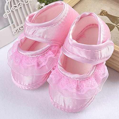 Zhuhaitf Ausgezeichnet Lovely Newborn Lace Princess Shoes Baby Girl Beautiful Non-Slip Shoes Pink