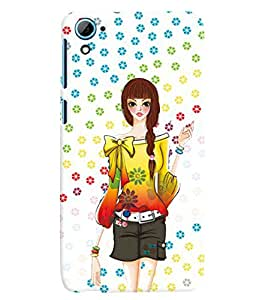 PRINTVISA Cute Girl Case Cover for HTC Desire 826