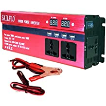 2000W Peak Power Inverter DC 12V to AC 220V Car Adapter with 3 AC & 4 USB Ports Charging 1000W Continuous Output