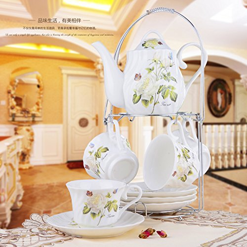 FAN4ZAMEHome Keramik Kaffeetasse Setafternoon Cup Sets Von Combinationshand Aus Keramik Kaffeetasse Set Mit Rahmen Kreativ/Cupsaucer Setcupcup C (Sie Selbst Machen Disney Kostüme)