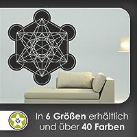 Metatron–Vinilo decorativo en 6tamaños de dados–Vinilos Wall Sticker, 70_schwarz, 40 x 36 cm