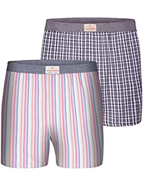 Luca David Olden Glory Boxer 2-pack a scacchi