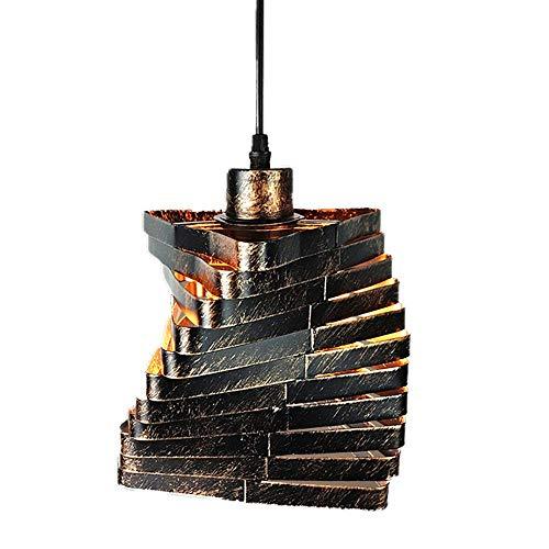 Luminarias/Lámpara Suspendida/Lámpara Colgante, Círculo Y Metal Sombra Sencillez Moderna Lámpara, Luz de Decoración de Dormitorio, 16X16X20Cm, 1 * E27, Eficiencia Energética a ++, BOSSLV