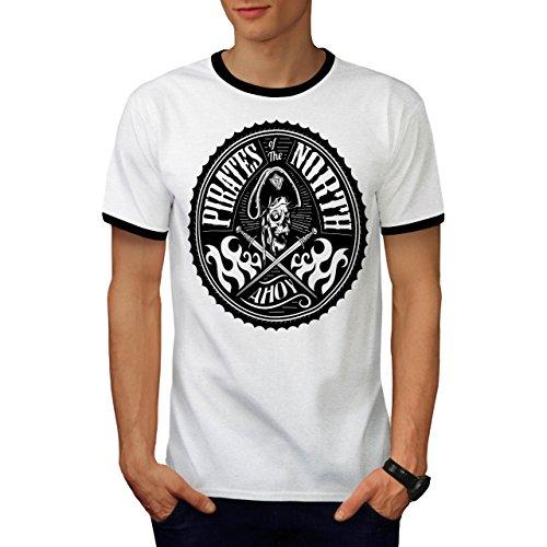 Norden Pirates Mode Kapitän Herren M Ringer T-shirt | (Kostüme Norden)