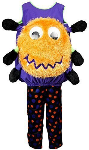 Treat Kostüm Für Kinder Trick Oder (Jungen oder Mädchen Halloween Neuheit Spinne Kürbis-phantasie Verkleidung Outfit Kostüm größen von 1 to 4 Jahre - Schwarz, 1-2)
