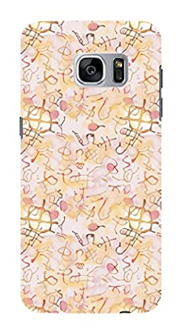 Koveru Back Cover Case for Samsung Galaxy S7 Edge - Snowflakes Pattern