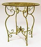 AmaCasa Metall-Tisch aus Eisen Gartentisch Design Nostalgisch Grün