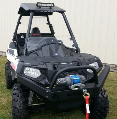 Preisvergleich Produktbild Polaris Sportsman ACE Front Brush Guard with Winch Mount by EMP 12487 by Extreme Metal Products