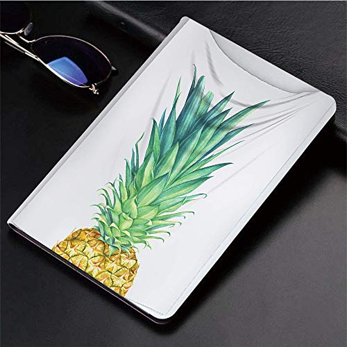 ad (9,7 Zoll, Modell 2018/2017, 6. / 5. Generation),Ananas, Flora Hawaii Themed Frisches Sommerobst,Ultra Slim Cover Schutzhülle PU Lederhülle/mit Auto Sleep Wake Up Funktion ()