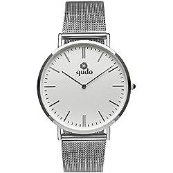 Qudo Ladies Watch Silver/White Silvertone 801035