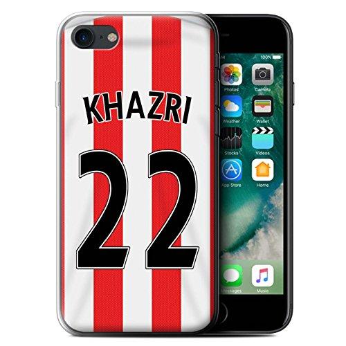 Offiziell Sunderland AFC Hülle / Gel TPU Case für Apple iPhone 7 / Matthews Muster / SAFC Trikot Home 15/16 Kollektion Khazri