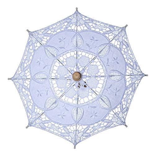 (xMxDESiZ Braut-Regenschirm für Damen, Party, Fotografie, Requisiten, Hochzeitsdekoration)