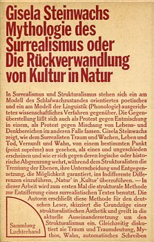 Mythologie des Surrealismus oder Die Rückverwandlung von Kultur in Natur.