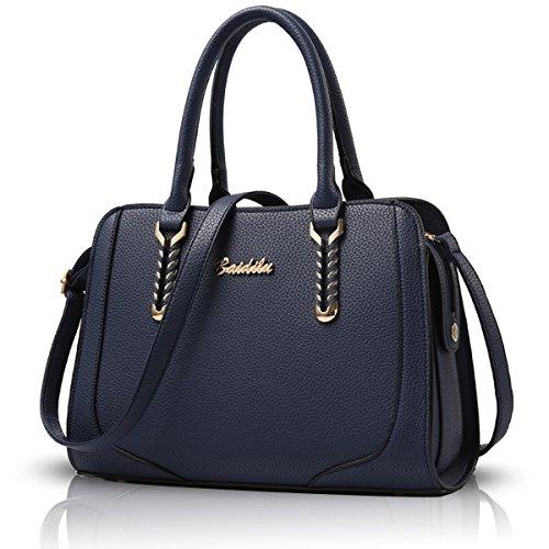 Sunas 2017 nuova borsa a tracolla Messenger grande sacchetto della signora borsa borsa di modo deep Blue