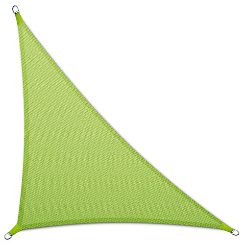 casa pura Sonnensegel Wasserabweisend imprägniert | Dreieck | Testnote 1.4 | UV Schutz | Verschiedene Farben und Größen (Hellgrün, 3,6 x 3,6 x 5,1 m)