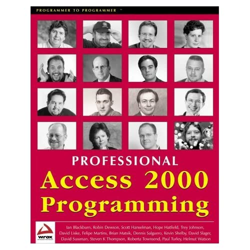 Professional Access 2000 Programming by Ian Blackburn (2000-08-02)