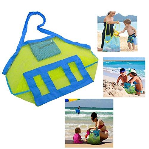 Cisixin Borsa molto capiente maglia spiaggia borsa Tote zaino giocattoli asciugamani sabbia lontano