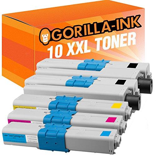 Gorilla-Ink 10 Toner XXL kompatibel mit Oki C301 Black Cyan Magenta Yellow -