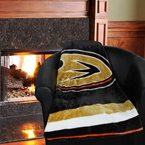NHL Anaheim Ducks Jersey Plush Raschel Throw, 50