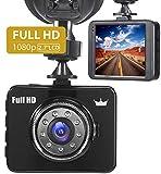 FORME Cámara de Coche 1080P Full HD Dash CAM 2.7 ' LCD Pantalla Dashcam 170 Ángulo con WDR G-Sensor, Detección de Movimiento, Grabación en Bucle