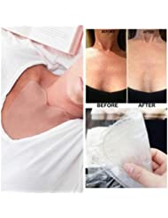 Chest Patch,IGEMY Silicone Anti Wrinkle Eliminate Chest Pads Reusable Overnight Improve Sleep Wrinkle Chest Silicone Reusable Pads - Heart Transparent (Clear)