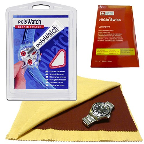 polyWatch PROFESSIONAL PLUS PACKAGE 2019 inkl. Poliertuch + HiGloSwiss 2in1 Poliertuch