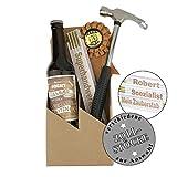 4-teiliges Geschenkset Geburtstag/Bier / Flaschenöffner/Zollstock zum auswählen/Geburtstag / Papa/Mann / Handwerker/Männer, Zollstöcke:HERZLICHEN GLÜCKWUNSCH