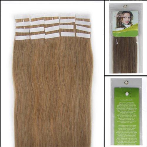 45,7 cm Bandes véritable Extensions de cheveux humains Droit Couleur 16 Blond cendré 40 g Lot de 20 Beauté Cheveux Style