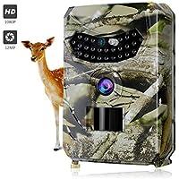 Cámara de Caza, Trail Cámara Vigilancia Infrarrojos Full HD 12MP 1080P, Sensor de Movimiento