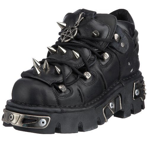 New Rock 110-S1, Scarpe casual, donna, Nero, 37 EU