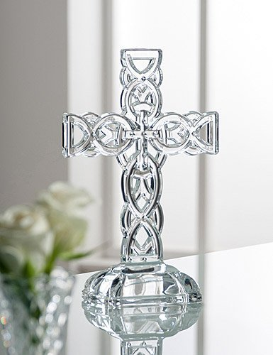 Belleek Pottery 34002 Celtic Cross, 11.4-Inch, Clear, Set of 1 by Galway Irish Crystal Galway Crystal Set