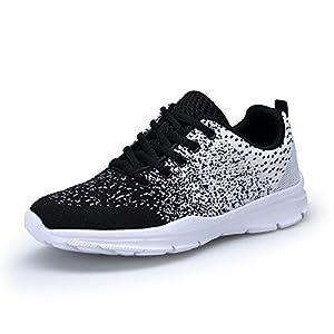 KOUDYEN Laufschuhe Atmungsaktiv Turnschuhe Schnürer Sportschuhe Sneaker für Herren Damen