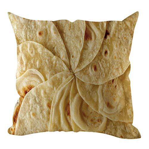 ZEELIY Kissenbezug Kopfkissenbezug für Sofa Schlafzimmer Auto mit Reißverschlüsse 45x45 cm Kissenbezüge Mode Essen Element