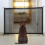U-picks Magic Gate For Dogs, Portable Folding Stair Gate Safe Guard Pet Isolation Net Indoor And Outdoor Safety Gate Install Anywhere For Dogs Cats - 110x72cm
